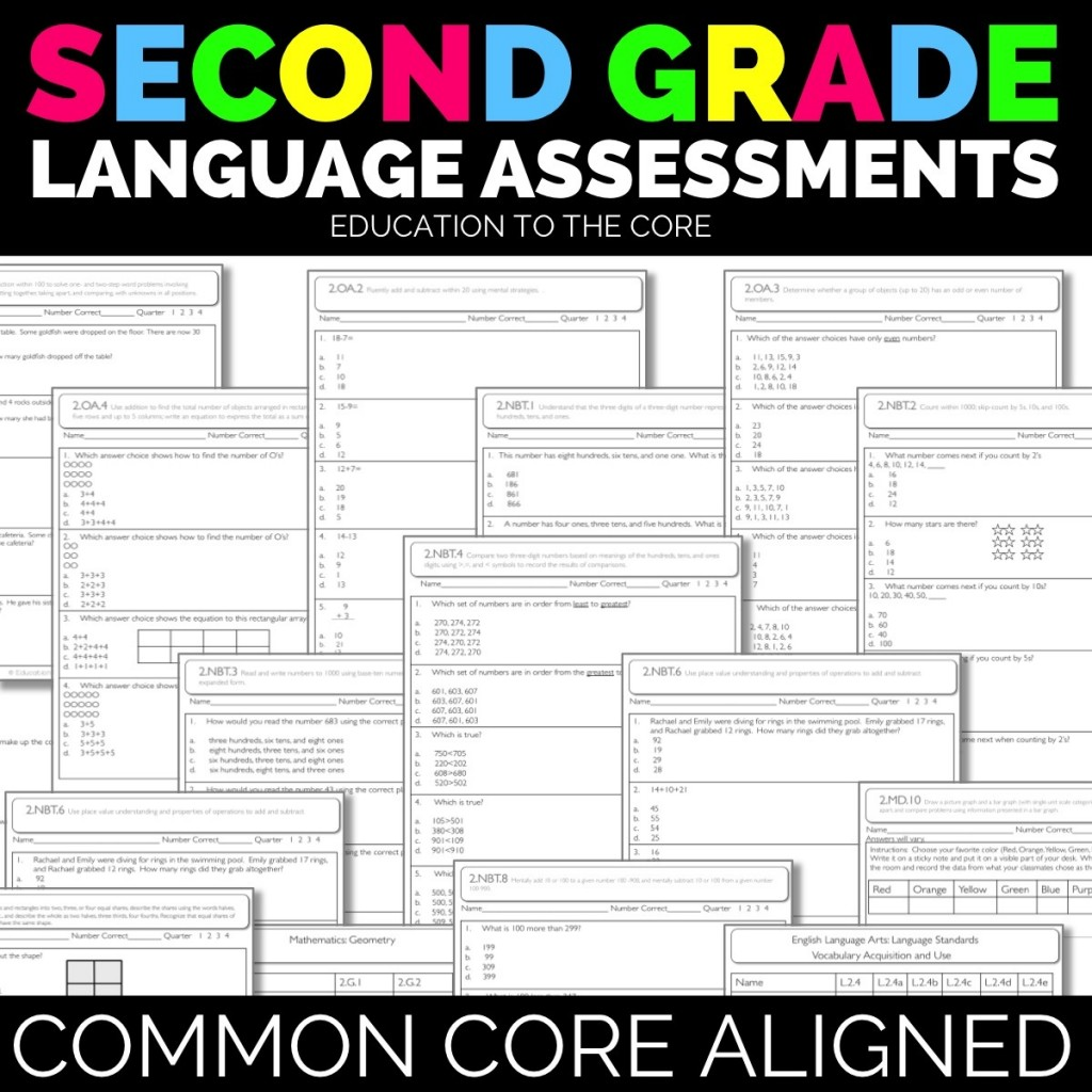 Second Grade Language Assessments
