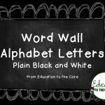 Free Word Wall Letters!