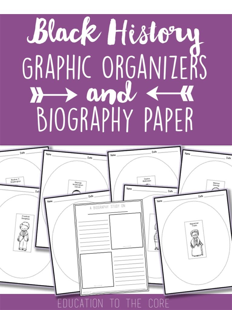 FREE Black History Graphic Organizers and Biography Paper for Bulletin Board!