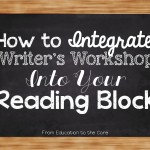 Integrating Writer's Workshop Into Your Reading Block