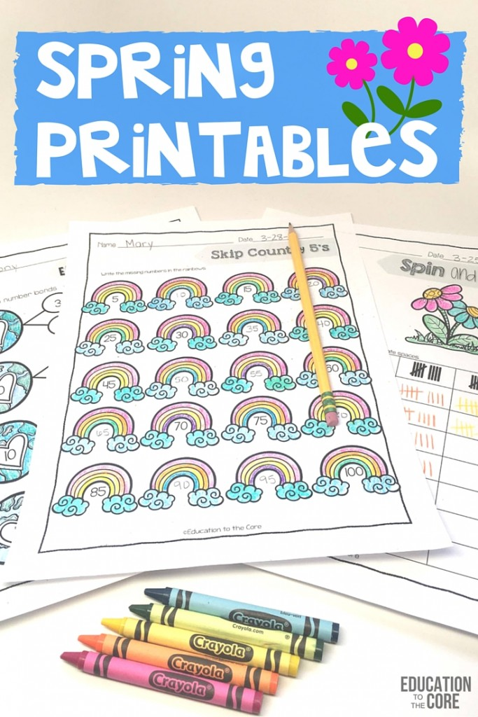 Spring Printables from Education to the Core