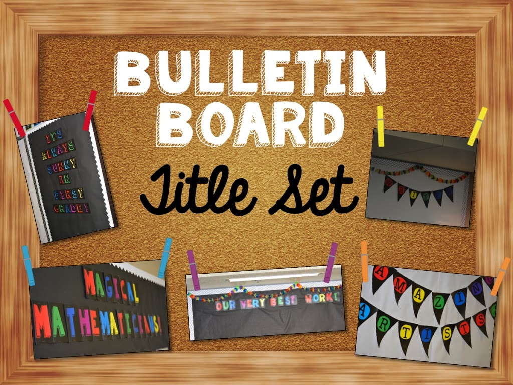 bulletin board letters black and white with pops of color education to the 20724 | Slide01
