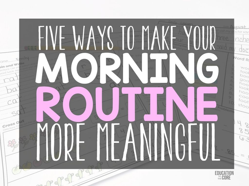 how to make a morning routine video