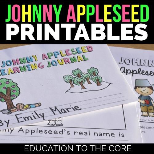Johnny Appleseed Printables