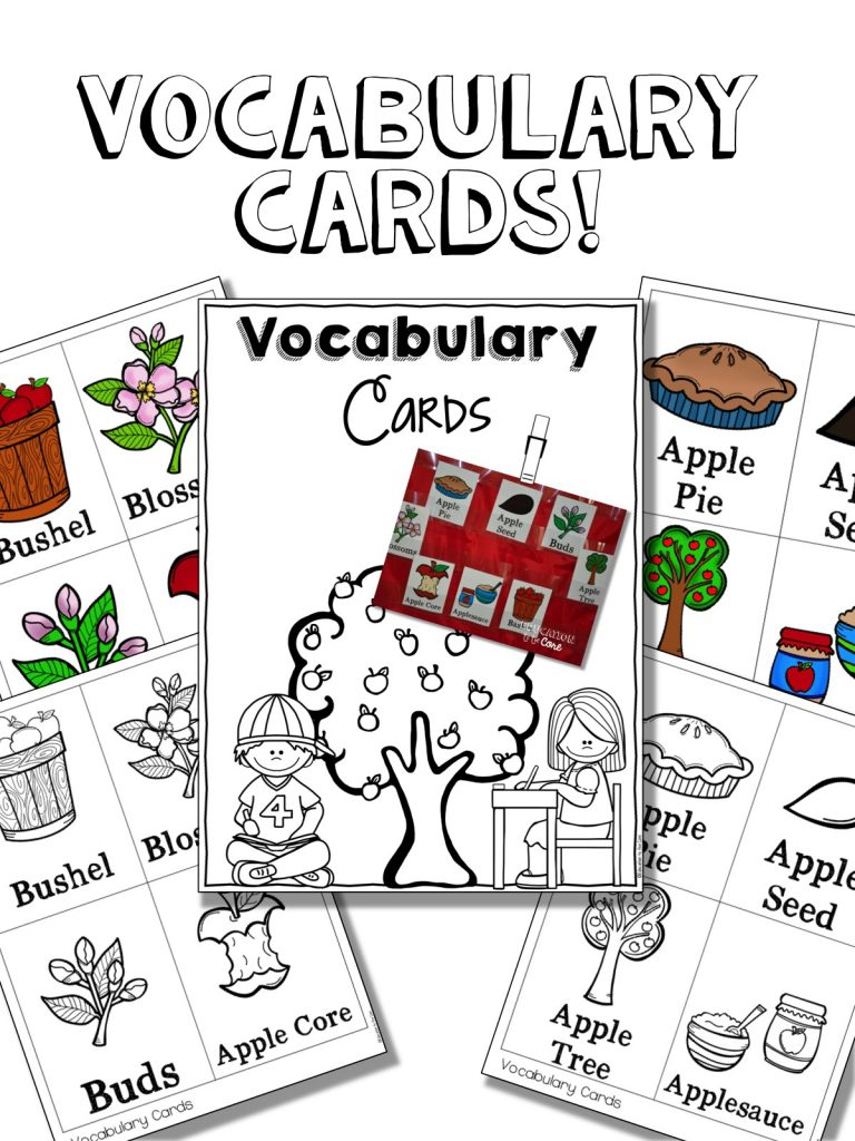 These apple life cycle vocabulary cards were a great discussion and reference point throughout the week. They also helped to guide my little readers along with their close read!