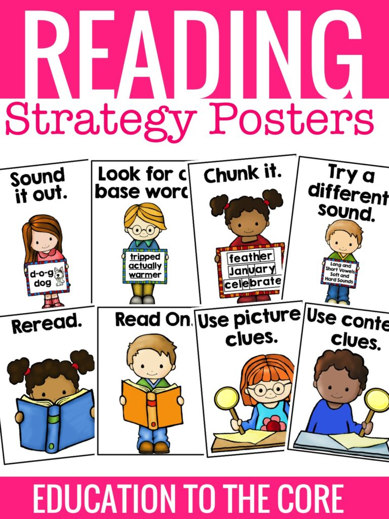 Reading Strategies Posters and a FREEBIE! - Education to the Core