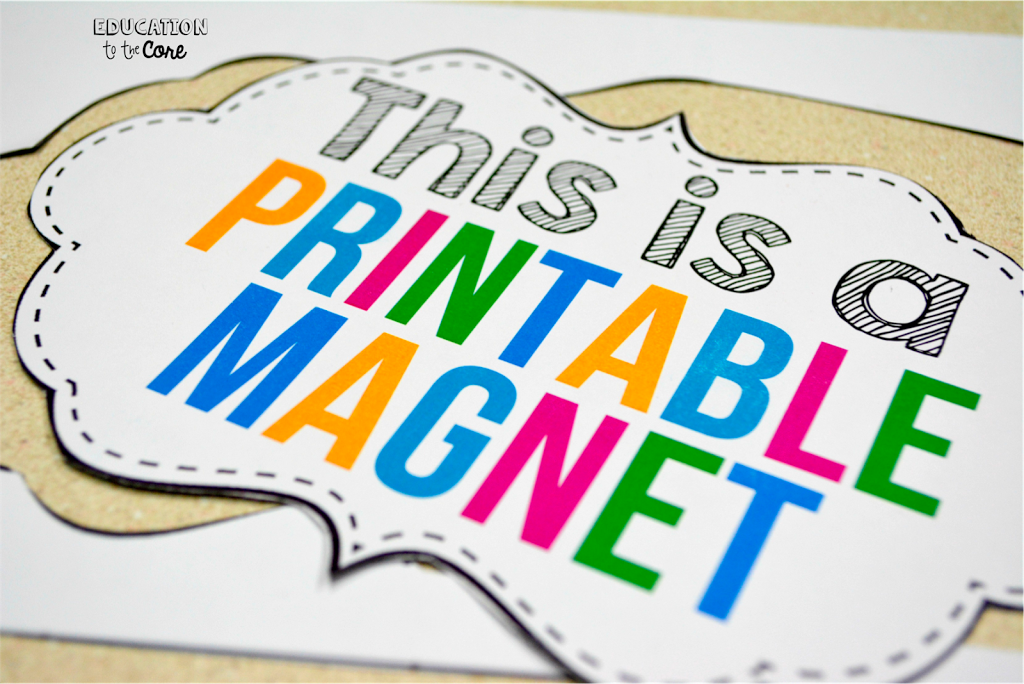 Printable Magnetic Paper