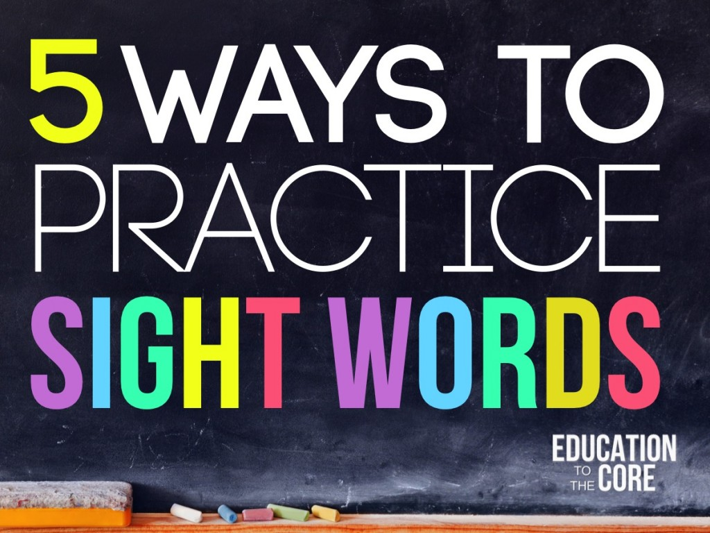 Five Ways to Practice Sight Words