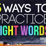 5 Ways to Practice Sight Words