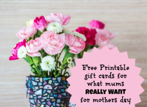 Five Printable Gift Cards from What Mums Want