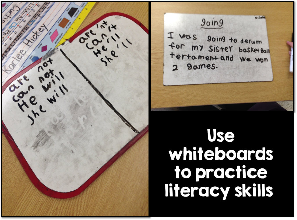 Use Whiteboards to Practice Literacy Skills