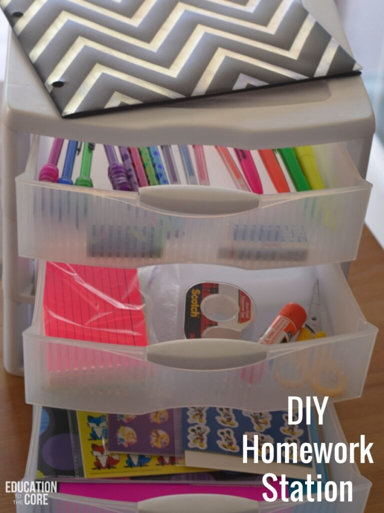 Create a DIY (Do It Yourself) Homework Station