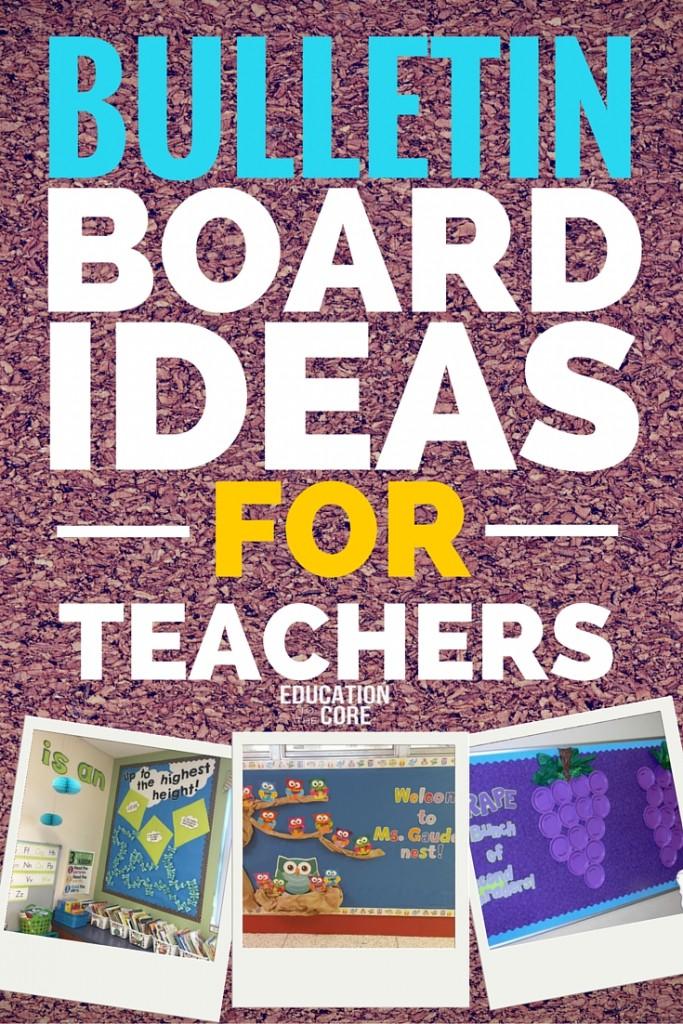 Bulletin Board Ideas for Teachers  sc 1 st  Education to the Core & 29 Bulletin Board Ideas for Teachers