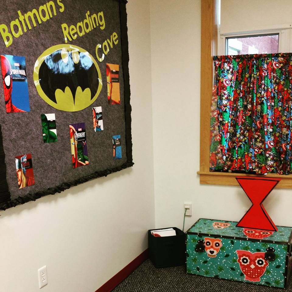 Batman's Reading Cave by Brianne M.