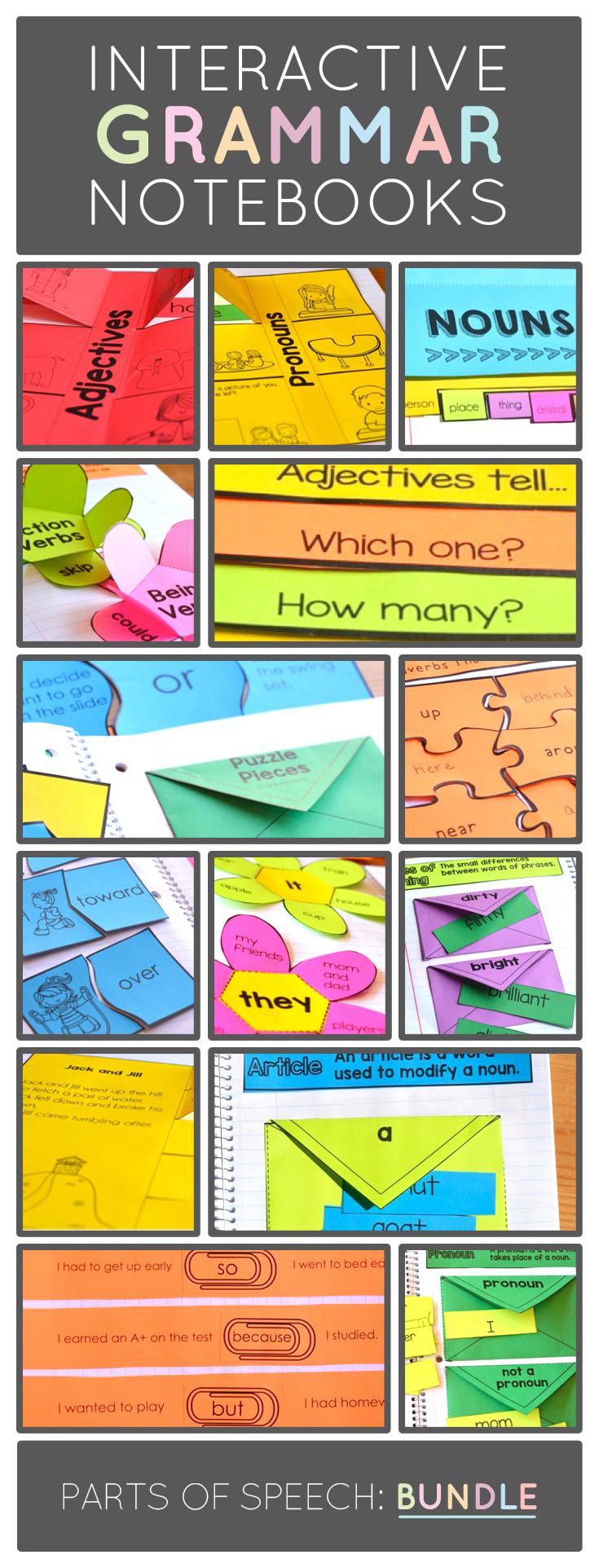 Interactive Grammar Notebook Resource for Primary Teachers