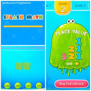 Splash Math Collage