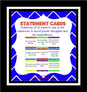 Statement Cards FREEBIE from Discovering Hidden Potential