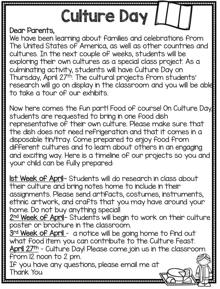 Culture Day Freebie