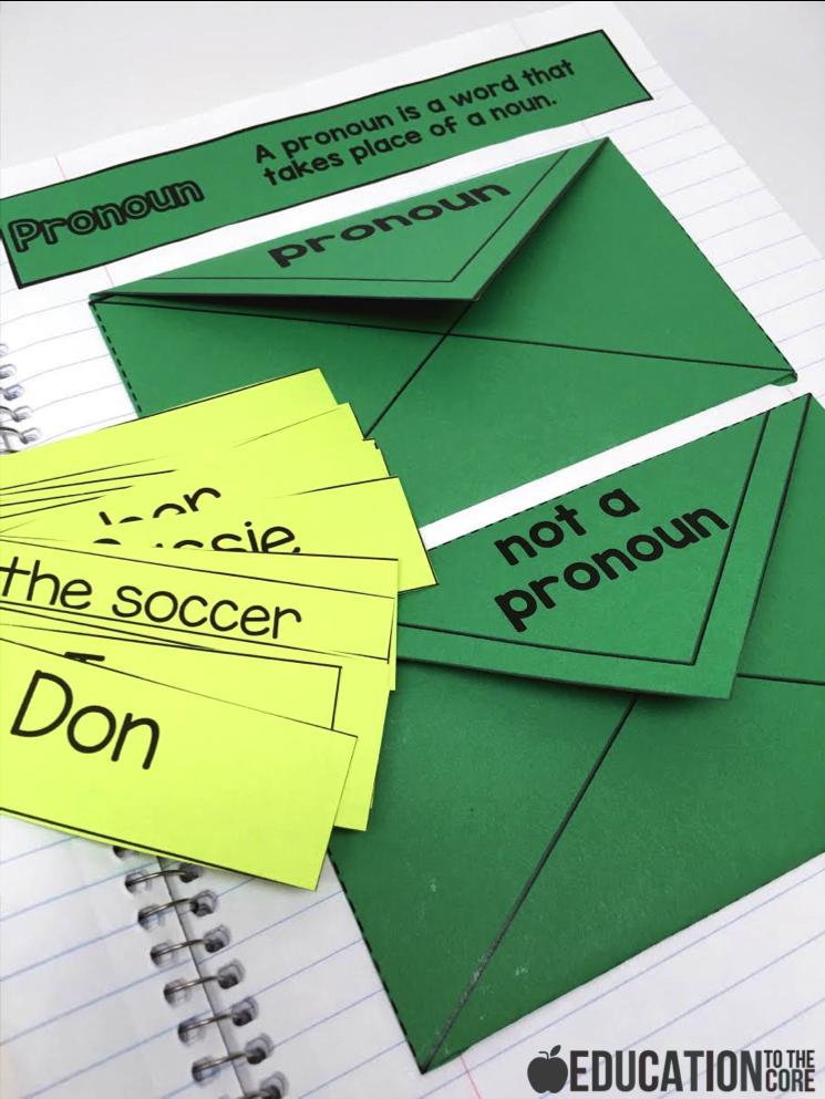 Pronoun Interactive Notebooks