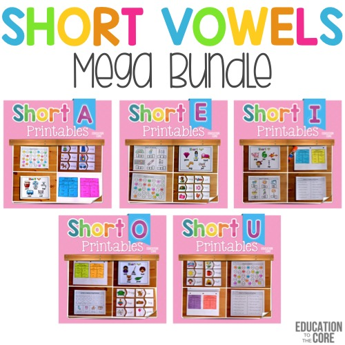 Short Vowel Mega Bundle