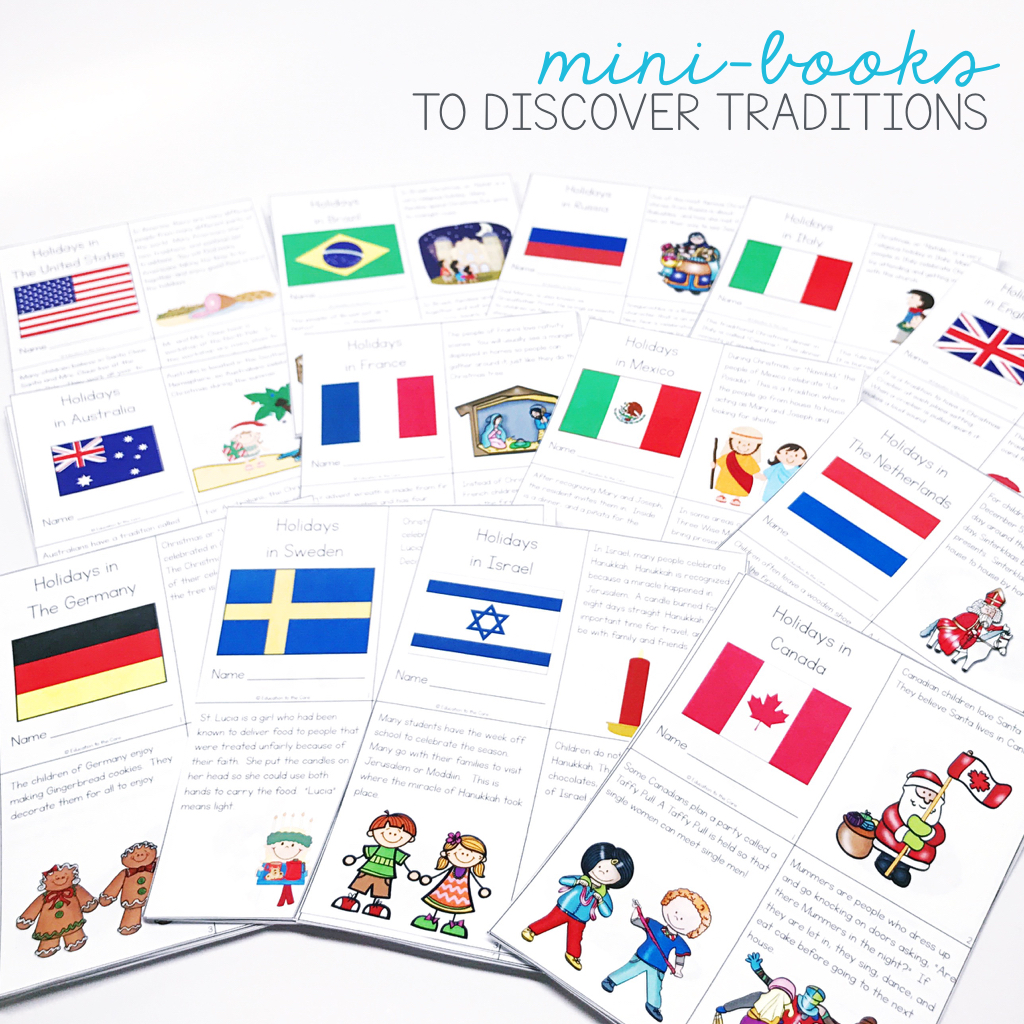 This Christmas around the World Unit has mini-books that are great for close reading