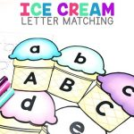 Ice Cream Letter Matching Freebie