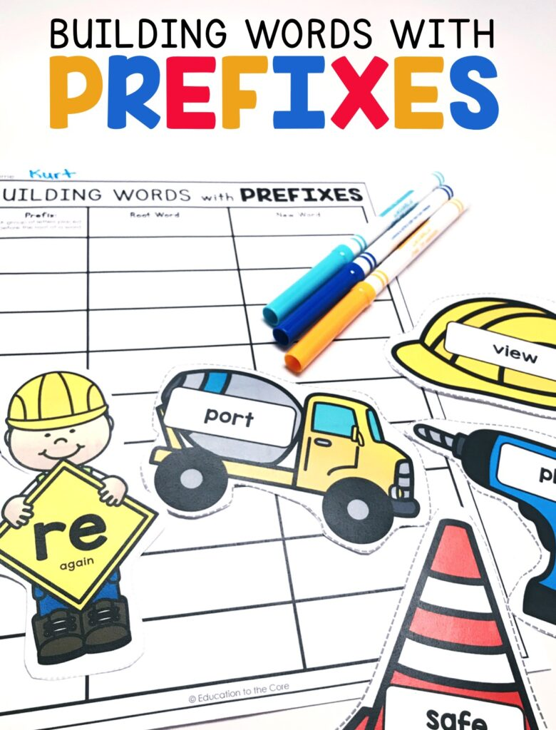 "Students will be ""building words"" using frequently occurring affixes as a clue to the meaning of a word.  They will then write the prefix, root, and new word on the accountability sheet."