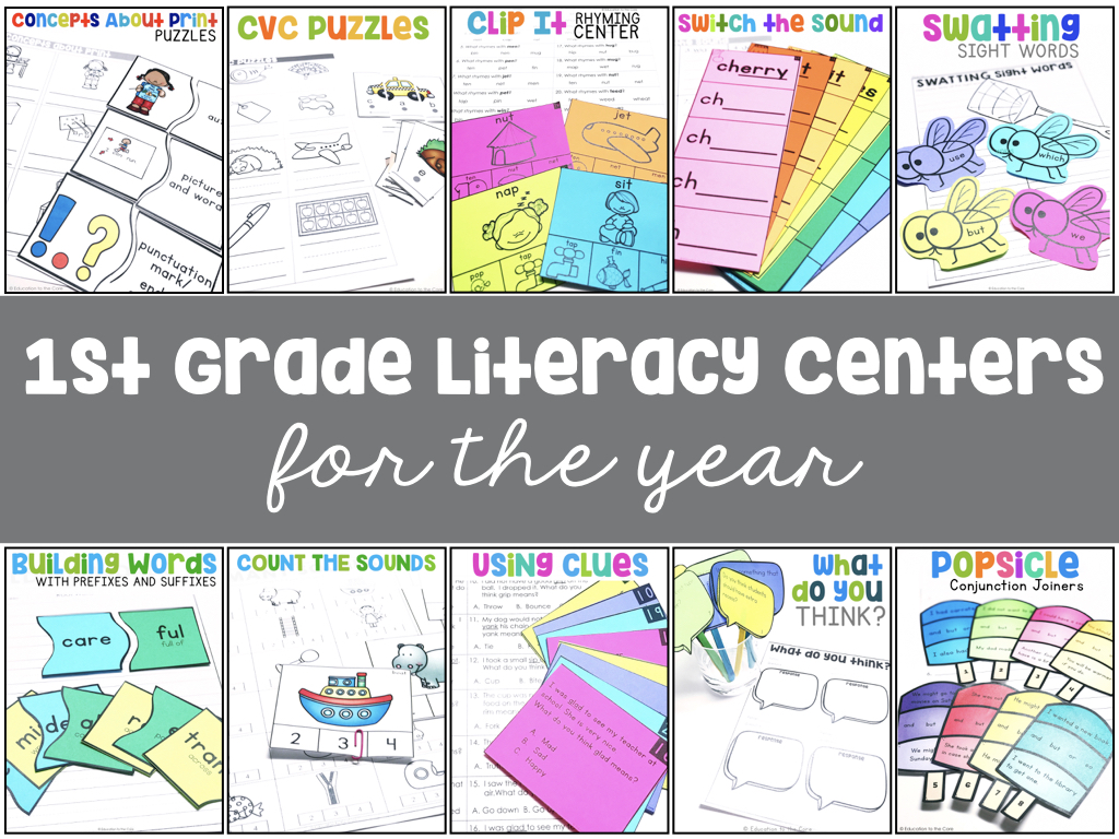 First Grade Literacy Centers for the Year!