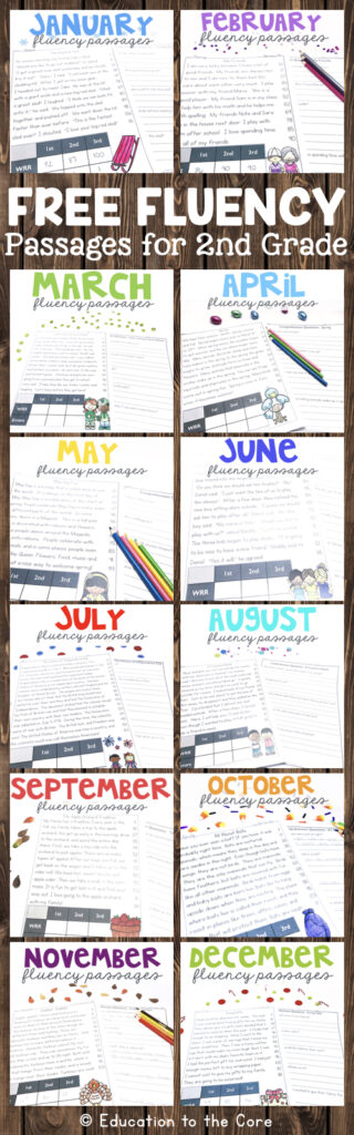 Free Fluency Passages for 2nd Grade