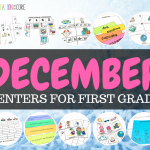 December Literacy Centers for First Grade