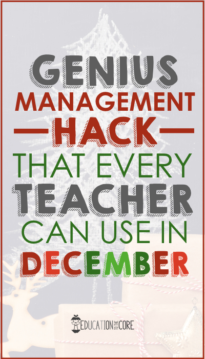 Let's chat about what happens in December as a teacher.  Your students are excited because there's a lot of excitement going on in their lives. I mean...Santa. Need I say more?  On the other hand, you are overwhelmed because you also have a lot going on at home and at school.  You might feel like classroom management goes out the window because of all the extra events, parties, musicals, etc.  What if I told you that you could restore a little bit of order during the month of December?  What if things don't actually have to be that chaotic during this time?