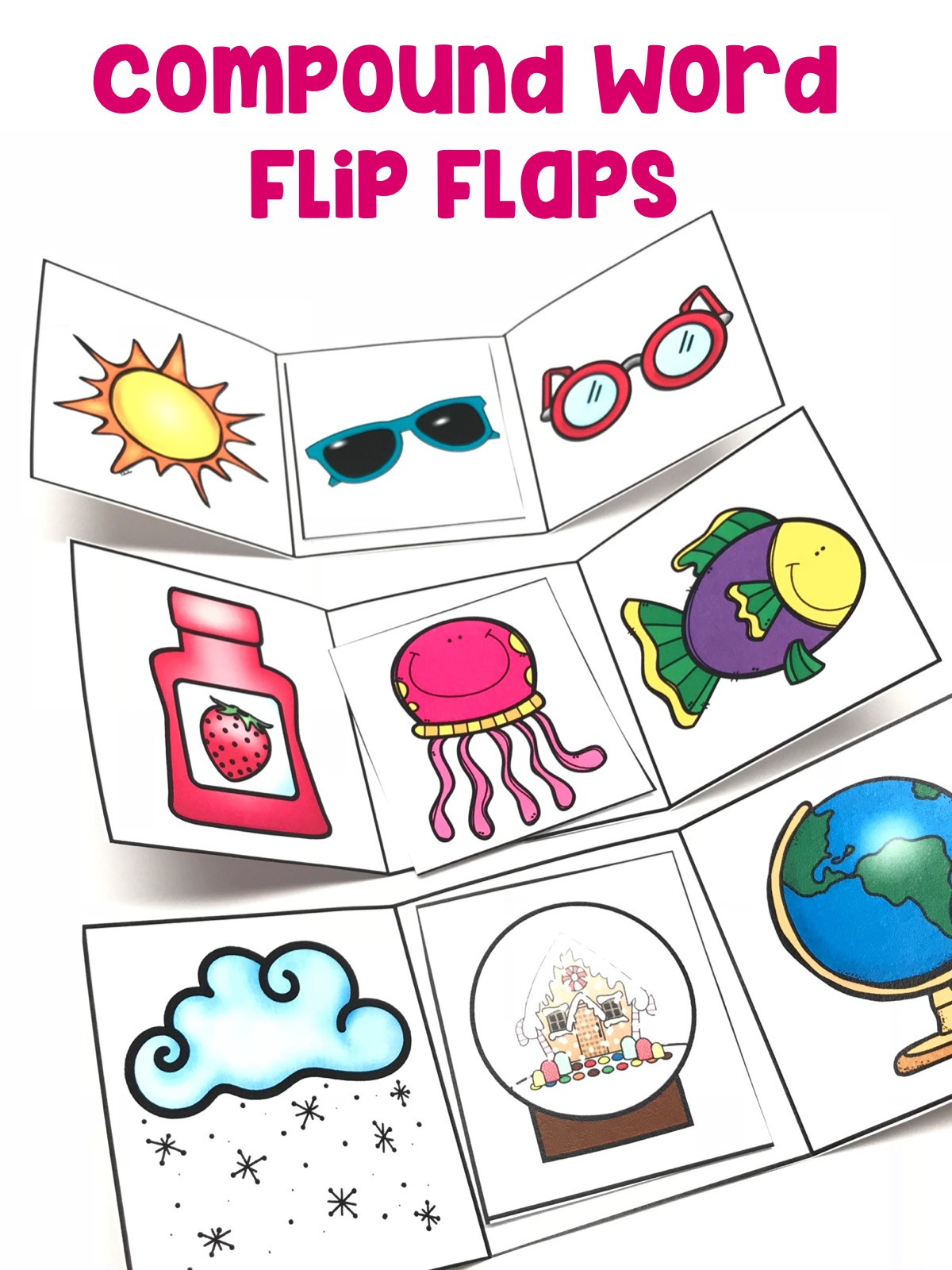 Use knowledge of the meaning of individual words to predict the meaning of compound words using the flip flap and compound words provided.
