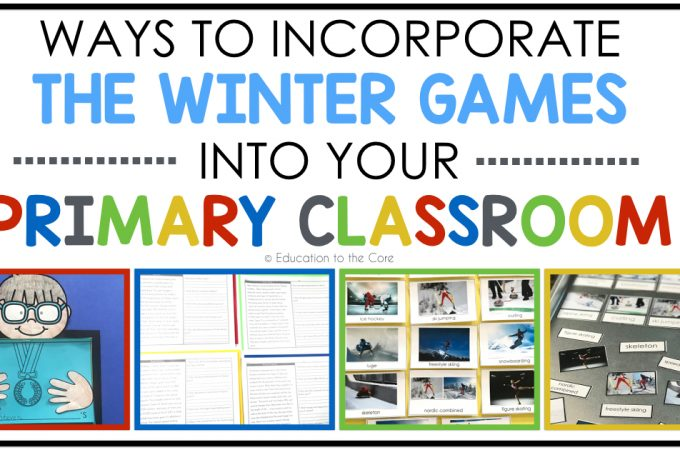 Ways to Incorporate the Winter Games into your Primary Classroom