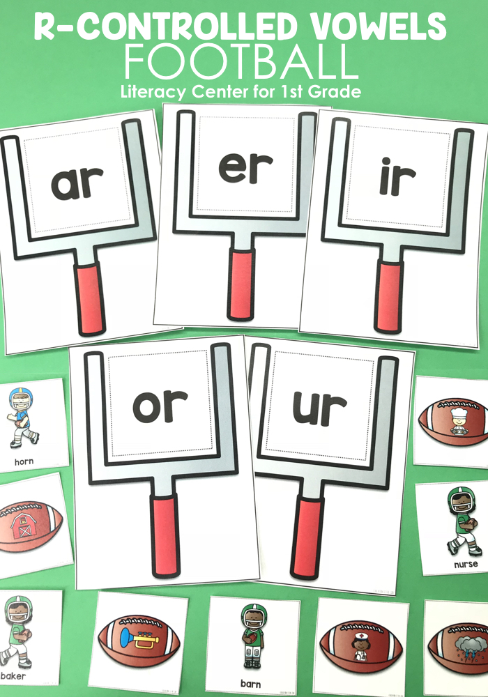 Students will read words with r-controlled vowel sounds and match them to the picture.  Students will then place each match in the appropriate r-controlled vowel goal!