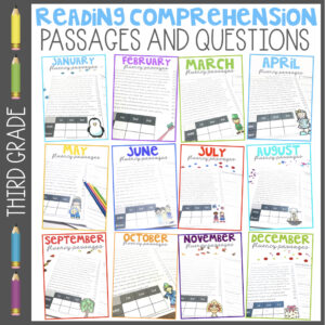 2nd Grade Reading Comprehension Passages And Questions Fluency