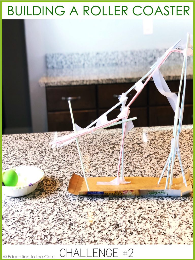 "Building a Roller Coaster: What kind of roller coaster can you make with straws? Use a ping pong ball as your ""car"" to try it out when you are finished!"