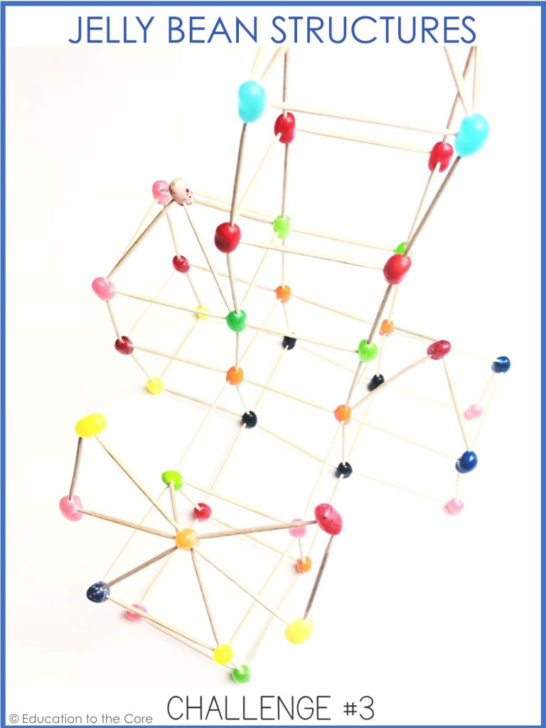 Jellybean Structures: What kind of structure can you make using only jelly beans and toothpicks?