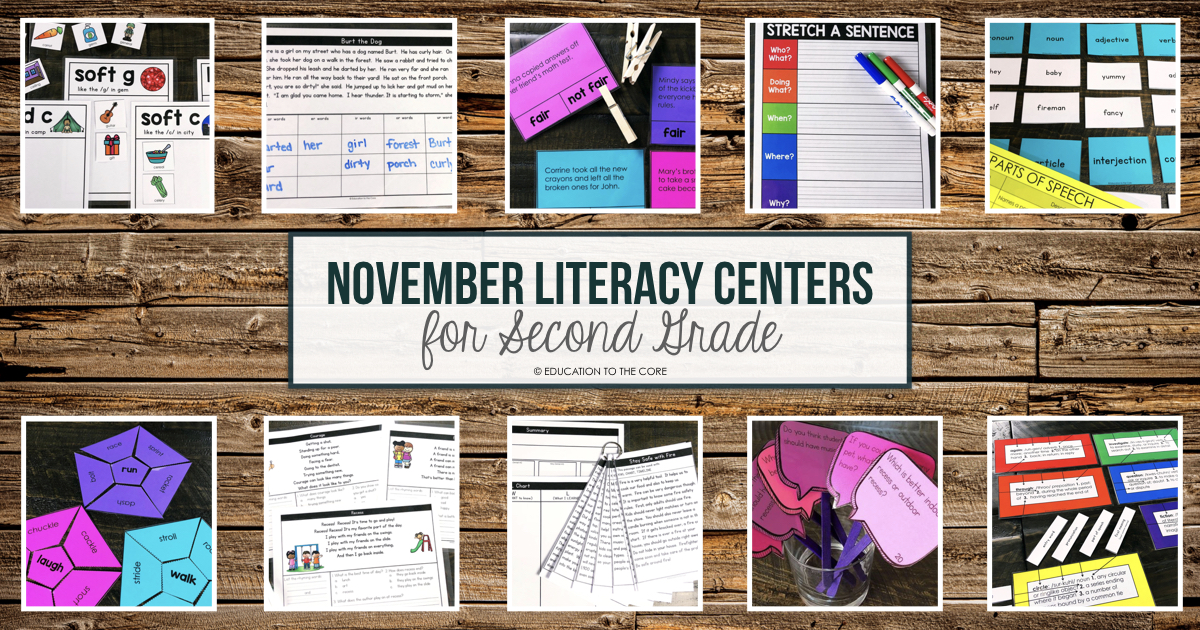 10 november centers for 2nd grade education to the core