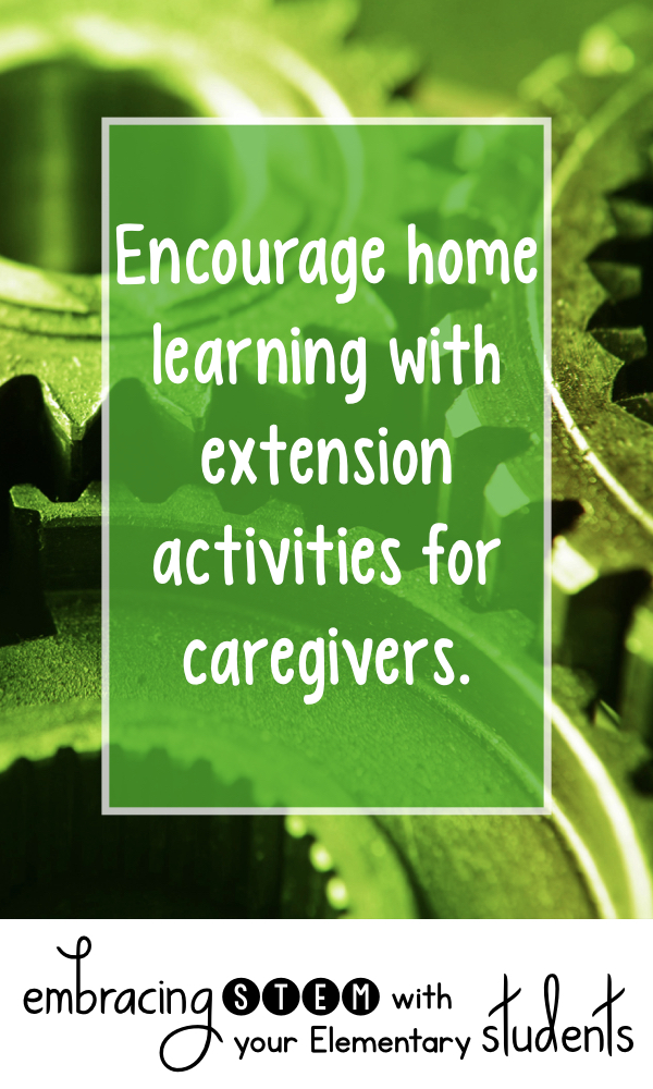 Encourage home learning with extension activities for caregivers.